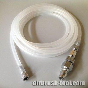 画像: エアーブラシ用シリコンチューブホース【S-Sタイプ】1〜5m + 接続金具(S-Sジョイントネジ・S-Lチェンジネジ・カプラプラグ)付き