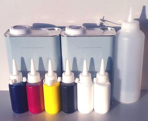 画像1: TOTAL-T御用達塗料セット【5色6本セット50】(シンナー2L、シンナー用ボトル1本付)